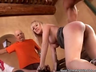 Blonde Wifey Swings For Hubby To Give Her More Pleasure