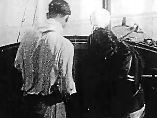 Au Gre Des Flots, 1925 French Antique