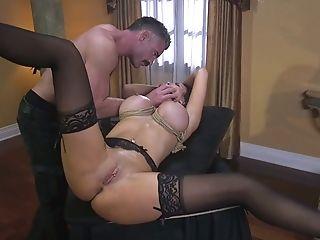 Ball-gagged Astonishing Big-boobed Cougar Jasmine Jae Gets Pierced Honeypot Fucked