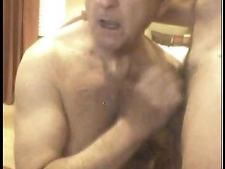 Grand-pa Suck On Web Cam