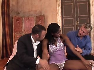 Dark-hued Bombshell Jasmine Webb Pounded And Creampied By Two Milky Guys