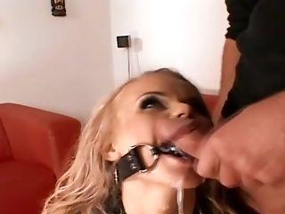 Blonde Mega-slut Gets Gonzo Double Penetration Gang-fuck Pounding