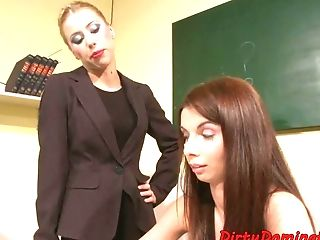 Restrained College Girl Spanked By Professor