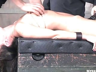 Alana Cruise Poked In The Eyes With Shaft And Made To Sob While Manhandled