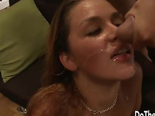 A Lamer Sees His Wifey Allie Tease Getting Fucked By A Stud