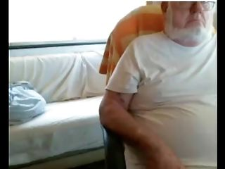 Grandfather And Youthful On Web Cam