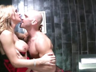 A Blonde With Large Tits Is Getting Fucked Outside On The Car