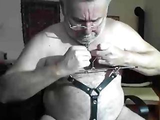 Grand-pa Have Fun On Webcam