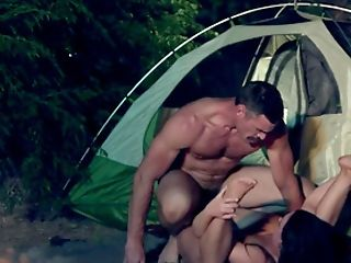 Late Night Camping Xxx Intercourse For A Big Backside Wifey