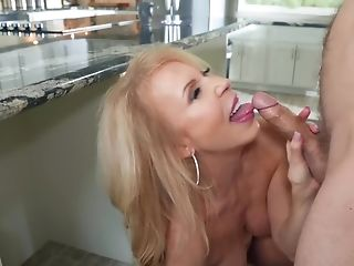 Matures Blonde Stepmom Attempts Stiffy Of Her Stepdaughter's Bf