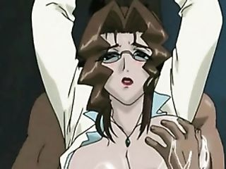 Groping Her Anime Tits Hard And Fucking Her