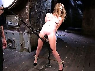 Awesome Buxom Blonde Hotty Ashley Lane Gets Tied Up And Treated Hard