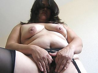Get A Taste Of This Chubby Hairy Matures Cunt