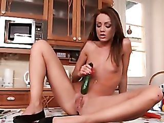 Food Fucking With Carrots And Cucumbers