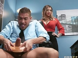 Sexy And Big-boobed Karma Rxenjoys Rough Fuck With Her Chief In The Office