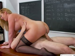Horn-mad Math Tutor Janna Hicks Lures Her Colleague For Some Good Fucky-fucky