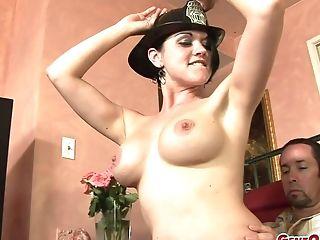 Deviant Honey Cassidy Lynn Gets Naked For A Fellow's Big Boner