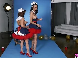 Navy Femmes Megan Rain And Eliza Ibarra Love To Have Fun For Your Pleasure