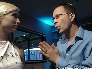 Sizzling Bombshell Piper Perri Gets Her Puss Blacked Under Step Dad's Nose