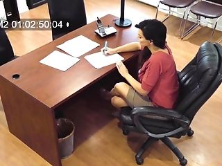 Hidden Webcam At The Office Records Becky Bandinig Getting Fucked