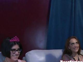 Cfnm Stunner Dicksucking Two Strippers