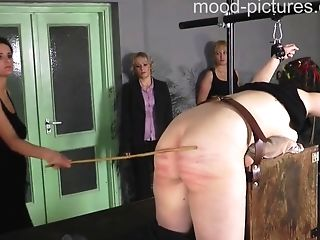 Lovely Lady Gets Tied Up Before A Mistress Starts Hitting Her Butt