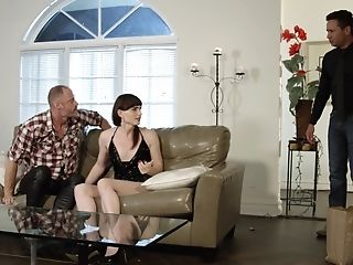 Horny Man Talks Shemale Natalie Mars Into Banging With Him