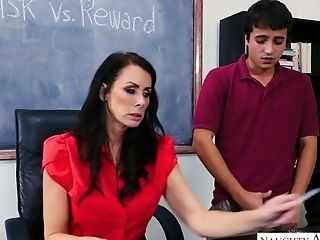 Serious Lecturer Reagan Foxx Fucks One Bad And Spoiled Student