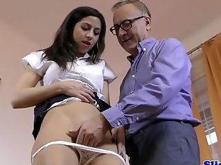 Bigtits Nubile Gets Facialized By Old Man