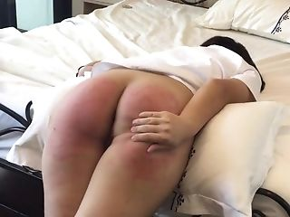 Asian Sub Vanida Gets A Stiff Painful Torture On Her Whorey Round Butt.