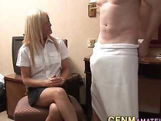 Cfnm Blonde Shows Undies