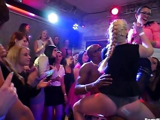 Wild Fucking During A Large Bday Soiree With Horny Glamour Stunners