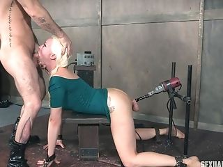Fuck Machines And A Big Dick Make Lorelei Lee Sob In Tying Session