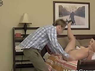 Chesty Matures Longing For A Stranger's Penis Deep Inwards Her On The Couch