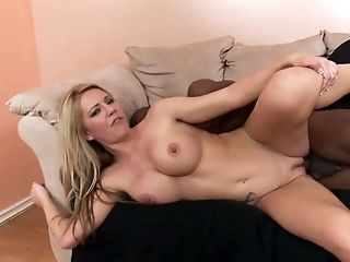 Juggy Blonde Ashley Winters Is Cheating On Her Spouse With Hot Blooded Big Black Cock
