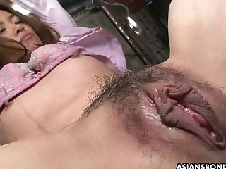 Ball-gagged Asian Hoe Yui Tachiki Gets Tied Up And Masturbated Hard A Bit