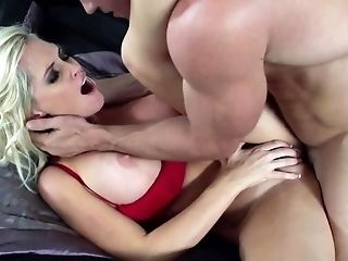 Blonde Cougar Is Off To Work, But Her Hubby Wants Some Loving