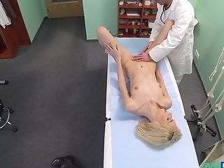 Doc Determines That He Needs To Examine His Blonde Patient With His Dick