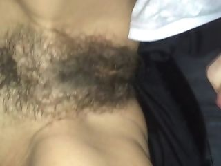 Mommy Lets Me Shoot A Explosion On Her Hairy Vagina