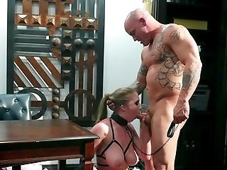 Obedient Lena Paul In Obsession Gear As A Domineering Man Crams Her Cunt Up