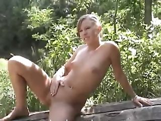 Hot Teenager Naked In The Forest