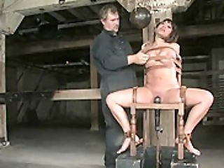 Promiscuous Bitch Ava Devine In Automated Sex Bot Ball-gagged, Whipped N Roped