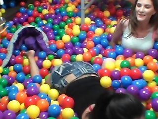 Molly Jane And Rachel Rose Find A Dick In A Ball Pool