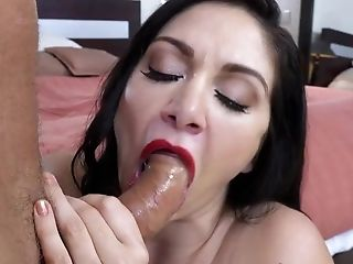 Wifey Loves Mind Deep Throating Hookup In Front Of Her Obedient Spouse